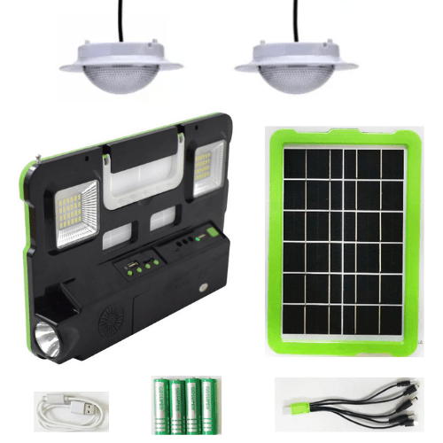 GDSUPER Solar Lighting System DC 9V input 8 hour Battery FM Radio USB DC5V MP3 Mobile Charger GD-7740