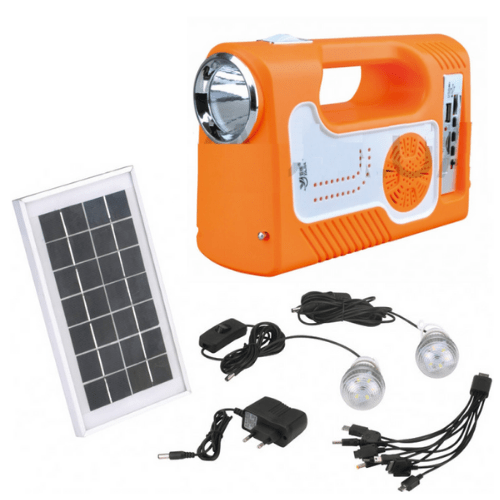 Home Genery System, Solar system-lantern Yajia YJ-1905T (SY) K lantern1 + 2 lamps, SUN Panel, radio, Power bank