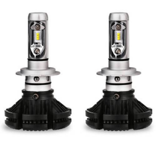 Led Car Lights H7, 50W, 6000L 6500K , With 3 Kinds Colorful Film , LED HEADLIGHTS LUMILEDS ZES X3-H7KC