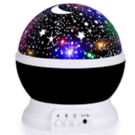 Rotating Light Projector, Starry Nursery Night Light, USB STAR MASTER Projection Lamp K-L6YK Black