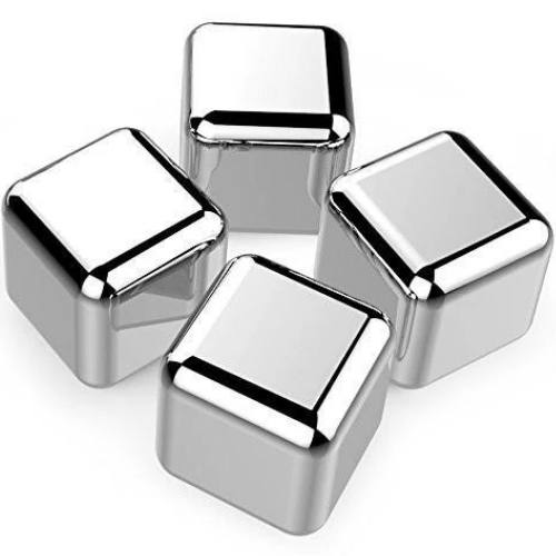 Stainless Steel Reusable Ice Cubes Chilling Stones For Whiskey Or Any Other Drink 1.0 Inch 6-pack 4005