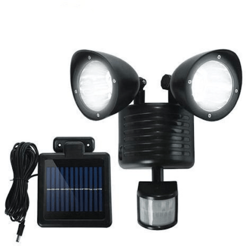 Twin Head Solar Security Light Fast Installation Super Bright Led Provides 150 Lumen Intensity OEM-THSS2