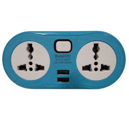 Portable 2 USB Charger And Conversion Plug E02