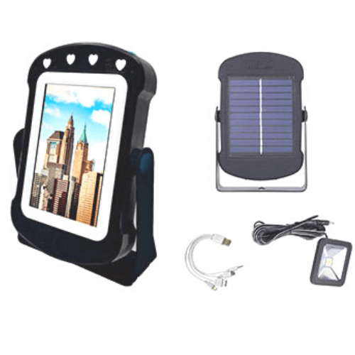 Travel Makeup Mirror and Solar Power Bank CCLamp Multi-Function with extra lamp and multi Mobile Charger Cable4 in 1, CL-206