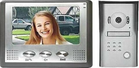 "7""LCD monitor speakerphone door phone doorbell color video intercom night vision unlock system RL-037"
