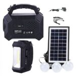 GDPLUS Brighter than ever Solar Lighting System Rechargeable FM Radio with USB MP3 Player LED LIGHT-GD-8161