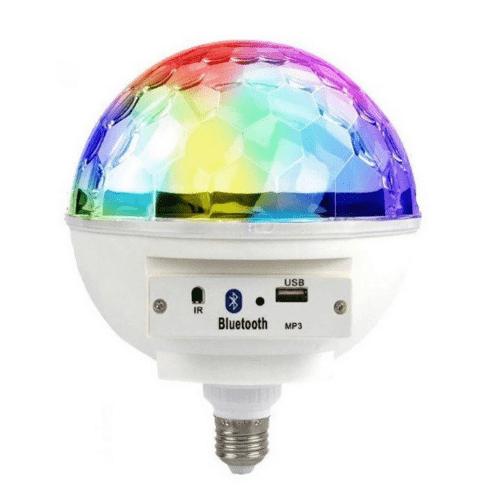 Bluetooth Led Crystal Magic Ball Light MP3 Music Speaker-LCB34