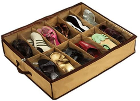 Shoes Under 12 Pairs of Shoes - Shoe Organizer Closet/Under Bed Storage-SU2933