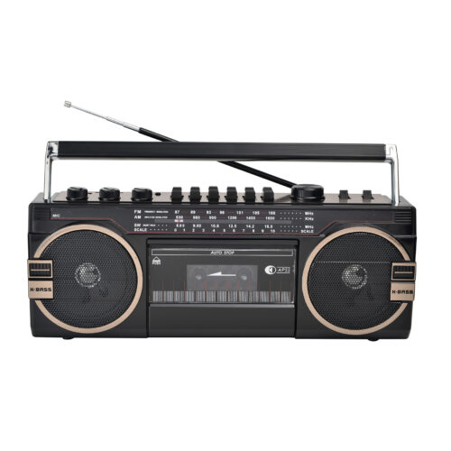CMIK STEREO RADIO CASSETTE RECORDER WITH USB / SD Ghettoblaster,Back to the 80's-MK-133
