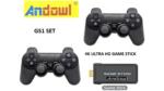 ANDOWL 2.4G Wireless Controller Gamepad set with Game stick Sony original rocker, High sensitivity - GS1