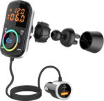 Car Charger with Bluetooth 5.0 FM LCD Screen Mp3 Player Handsfree Car Kit-BC71