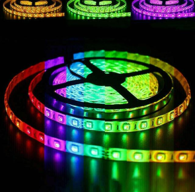 Waterproof RGBW 5m LED Strip with Power Supply and Remote Control SMD5050 12V