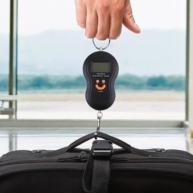 Portable electronic scale with support hook 10gr-50kg Fuzion Smile, in black color