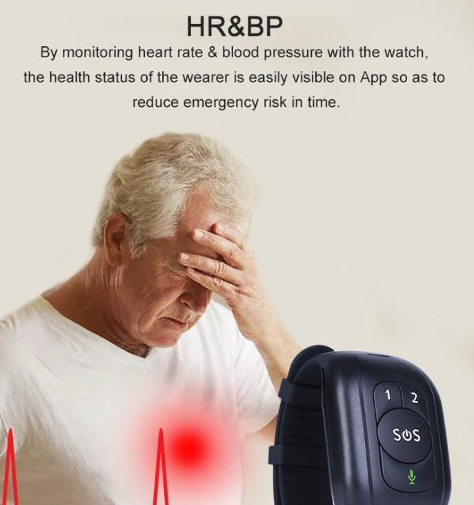 Silver Alert bracelet 4G for Elderly in Need SOS GPS Caution Activity Easy Setup OEM-RYDV48