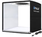 PULUZ 25cm Folding Portable Ring LED Photo Lighting Studio Tent Box + Shadowless Light Lamp Panel Pad with 12 Colors Backdrops, Size: 25cm x 25cm x 25cm(Black)-RL25