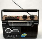 YUEGAN Portable Retro Radio Cassette Player FM / AM / SW1-2 USB / SD (Black Brown) YG-333U