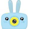 Kids Camera 2-inch screen, Timed Self-timer, Support Extensions, Autofocus, Environmentally friendly materials QK6-Blue