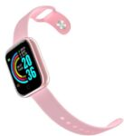 Unisex Smart Wristbands Bluetooth Touch Screen Heart Rate Monitor Blood Pressure Monitor Y68 - Pink