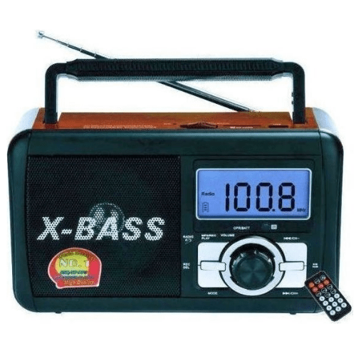 EPE Rechargeable Radio With Digital Display USB SD Card,in red color FP-910RC
