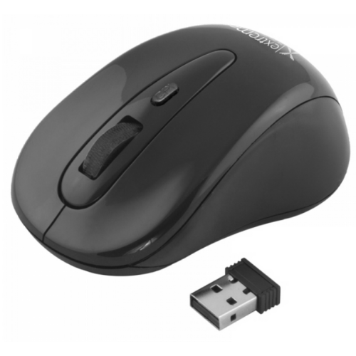 EXTREME Wireless Maverick Mouse, Optical, USB, 1200DPI, 4 Buttons, 2.4GHZ, For Laptop And PC, Black XM104K