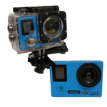 ANDOWL 4k Waterproof Sports Action Camera, Wifi, Ultra HD, 750 mAh, Super Wide Angle +Accessories QY-70K BLUE