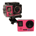 ANDOWL 4k Waterproof Sports Action Camera, Wifi, Ultra HD, 750 mAh, Super Wide Angle +Accessories QY-70K PINK