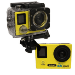 ANDOWL 4k Waterproof Sports Action Camera, Wifi, Ultra HD, 750 mAh, Super Wide Angle +Accessories QY-70K YELLOW