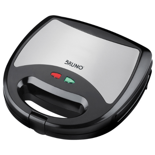 BRUNO Snandwich Maker 750W Non-stick Surface With Detachable Plates And Automatic Temperature Control Grey-Black Colors BRN-0024