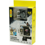 ANDOWL 4k Waterproof Sports Action Camera, Wifi, Ultra HD, 750 mAh, Super Wide Angle +Accessories QY-70K SILVER