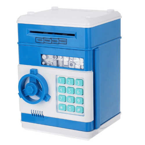 Coins and Bills Number Bank Electronic Money Box -Safe With Security Code 26831