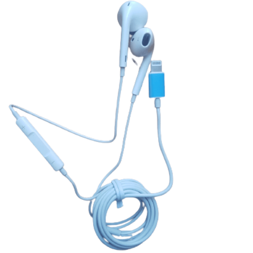 Earphone Wired Handsfree in ear Stereo 8 Pin Wire Headphone IOS Plug For iPhone MY-021