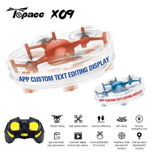 MIRBEST Color Sprite X09 APP Custom Programming Lights Edit Character Display Gravity Sensor High Hold Mode Smart RC Quadcopter