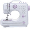 Multifunction Mini Sewing Machine 12 Built-In Stitches, 2 Speeds Double Thread, Foot Pedal Best for beginner YASM-505A
