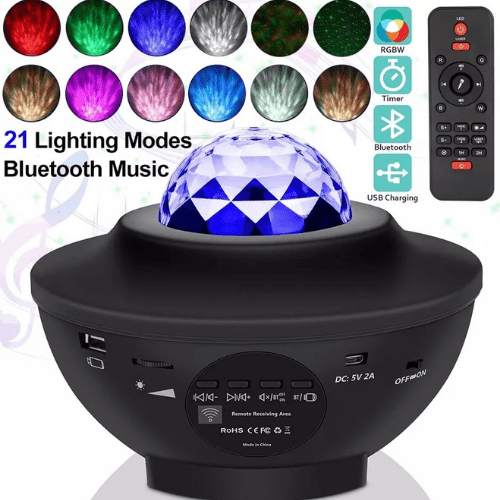 Rotating Room Light with Projector Galaxy Star Projector Ocean Wave SPL-22