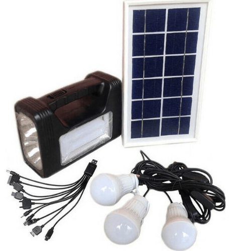 EAGLEHEAD Solar Emergency System with 3 Lamps and Device Charging System BCT-8010