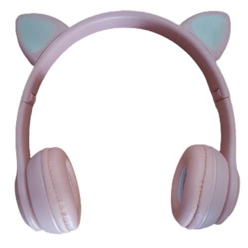 Wireless Cat Headphones with LED RGB Q-EM51 Pink