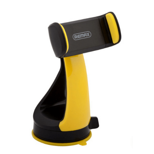 REMAX Smart Car Mount Phone Holder, With Adjustable Arm, 360° Rotation, For Devices 3.5-6 Inches, Black/Yellow RM-C15