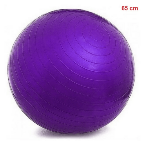 Yoga Ball For Yoga, Fitness, Sports, Pilates, Birthing, Fitball, Exercise, Workout, Massage, With Pump, 65cm, YGB-356K (Purple)