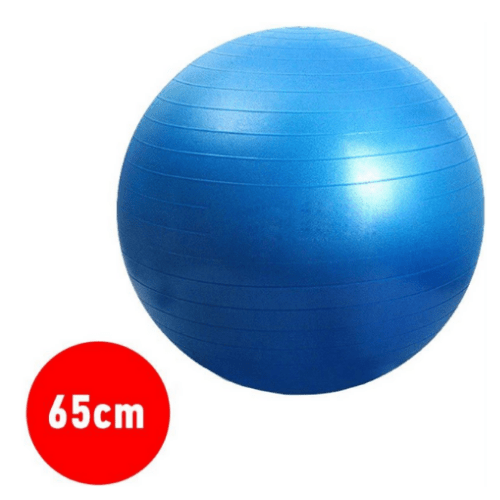 Blue Yoga Ball For Yoga, Fitness, Sports, Pilates, Birthing, Fitball, Exercise, Workout, Massage, With Pump, 65cm, YGB-356K