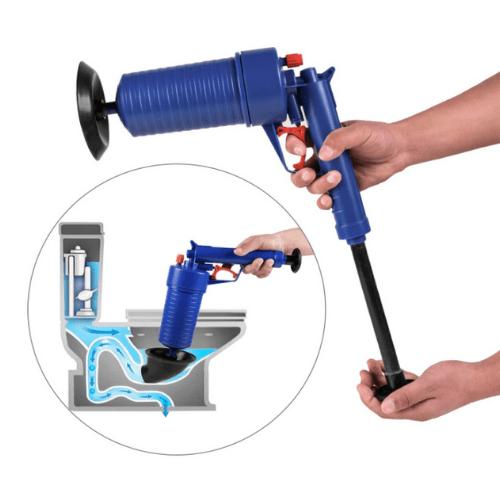 PaoPaoTong High Pressure Air Drain Blaster for Bath/Toilet/Sink/Floor Drain/Kitchen Clogged Pipe, Blue EG-5300P