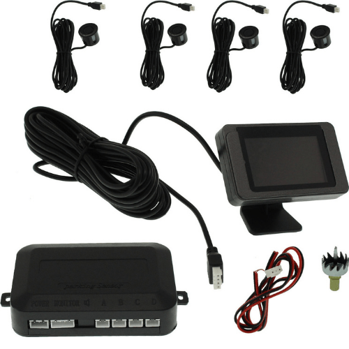 Car Distance Detection System With 4 Sensors, LED Screen And Annular Cutter Black SW-818L-4