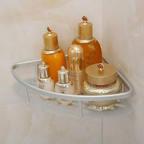 Corner Rack Magic Sticker Bathroom Shelf Aluminum With 1 Shelf 21.5x29x4cm 81003CRN50SL