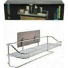 Corner Rack Magic Sticker Bathroom Shelf INOX With Long Shelf 40x11.5x15cm 81006LNG00SL -5001