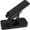 Desk Phone Bracket Black Bluetooth Speaker Mount Heavy Bass Effect Multifunctional Stable ABS Phone Tablet for Home Office F18