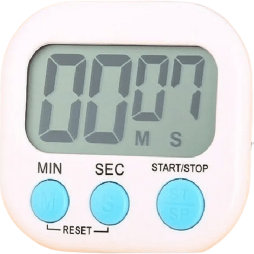 Digital Countdown Timer With Magnet For Kitchen White With Blue Bottoms ΧΚ-103