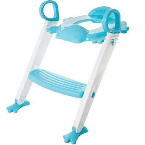 Froggie 3 in 1 Folding Baby Potty Training Seat with Ladder for Kids With Handles Multicolour (Blue,Yellow,Red) B07ZPWYJX6