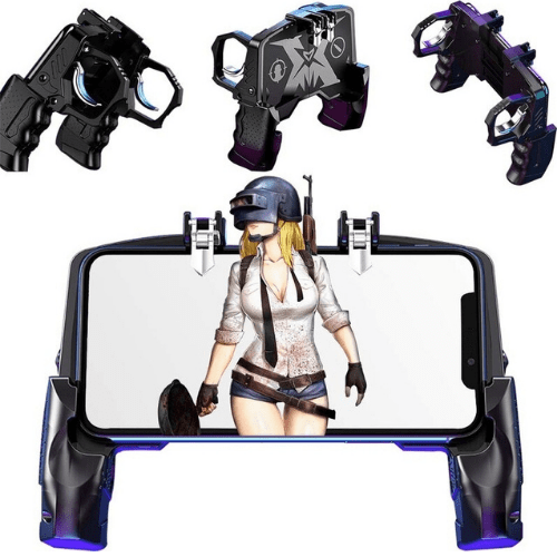 Portable Game Grip Four-finger All-in-One Operation Mobile Game Controller For PUBG- Black K21