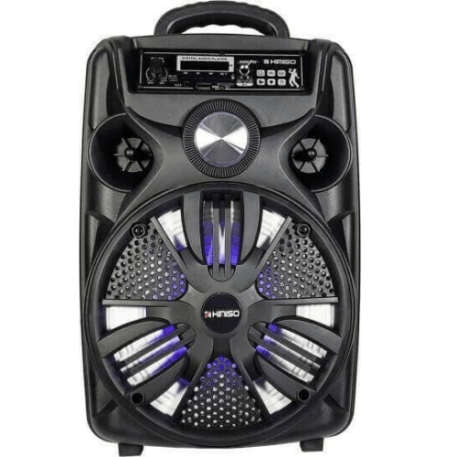 KIMISO QS-825 Wireless Bluetooth Portable Speaker 1500 P.M.P.O Super Bass LED Light Wired Microphone