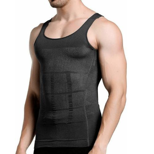 Men's Sweatshirt and Slimming Shirt Body Shaping Vest Q-YD3