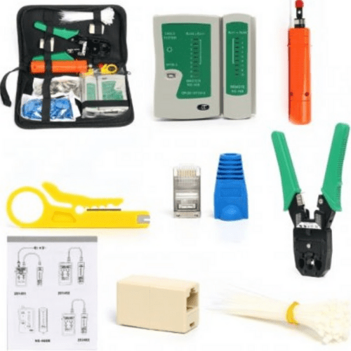 Network Tools Set 9pcs 6 in 1 with Carrying Case, 27x6x15,5cm Aria Trade 00007946